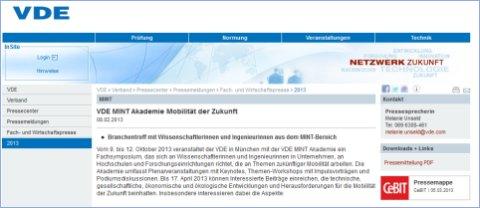 zur Website des VDE mit mehr Infos