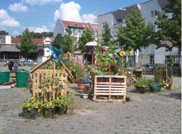 Der urbane Garten neben dem Lucie-Flechtmann-Platz Foto: Sybille