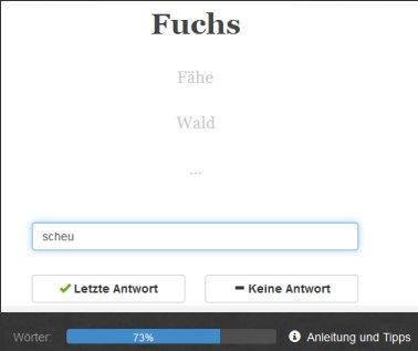 Beispielwort: Fuchs