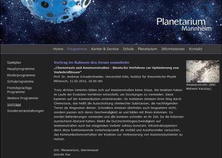 Ameisenstrassen Planetarium Mannheim