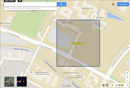 Pac Man in Google Maps