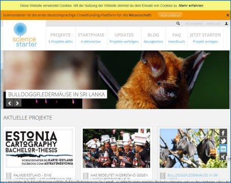 Screenshot Sciencestarter
