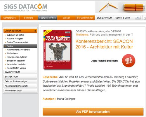 SEACON-Konferenzbericht-OBJEKTspektrum-Teaser
