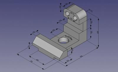 Darstellung eines 3D-Modells von der FreeCAD-Webseite