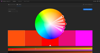 Screenshot der Webseite color.adobe.com/de/create/color-wheel