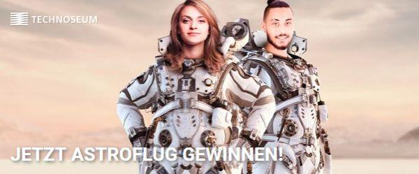 Astronautin und Astronaut auf der Technoseum-Website