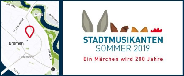 Logo Stadtmusikantensommer und Lageplan Domshof