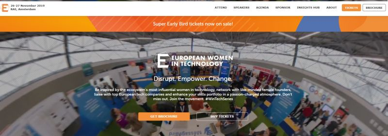 Screenshot Website European Women in Technology