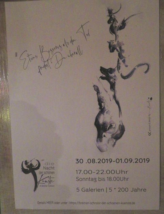 Ankündigungsposter Bremer Kunst
