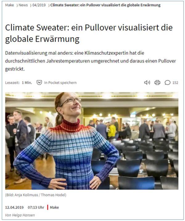 Pullover - jede Reihe farbig je nach Jahreswärme