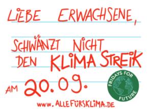 Sticker des Klimastreiks