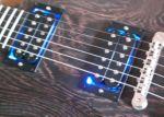 LEDs bei den Gitarrensaiten