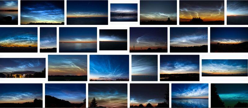 Screenshot Qwantsuche nach Leuchtende Nachtwolken
