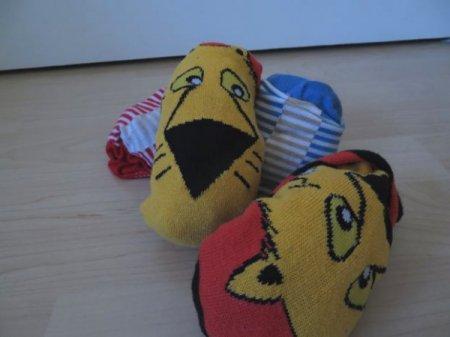 selbst gemachte Sockenbälle