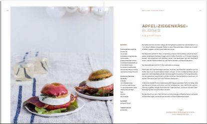 Rezept Apfel-Ziegenkäse-Burger