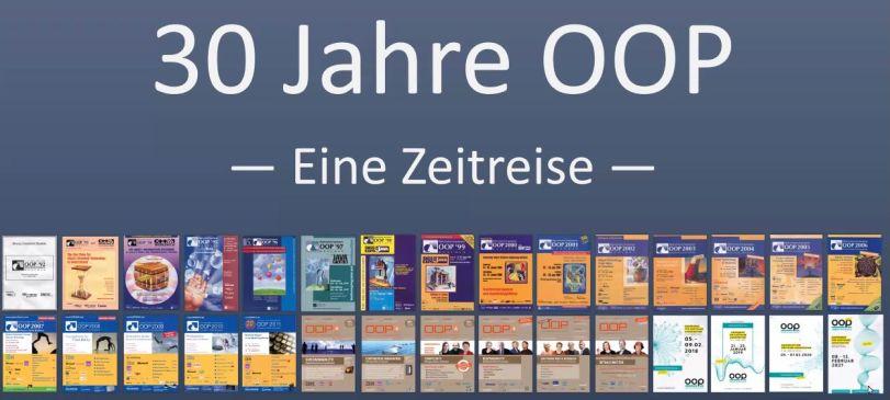 Screenshot Startfolie: OOP-Poster aus vielen Jahren...