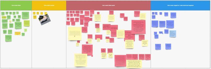 Feedback im virutellen Board: Was man mag, was nicht, wo verbessern, was fehlt