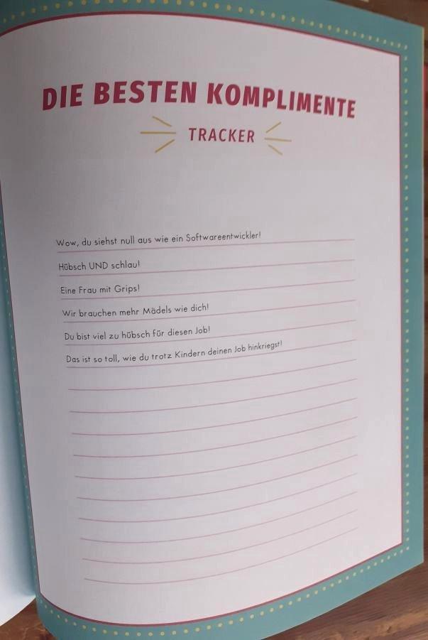 Liste mit 'Komplimenten'