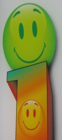 Foto von 2 Smileys, grün und orange