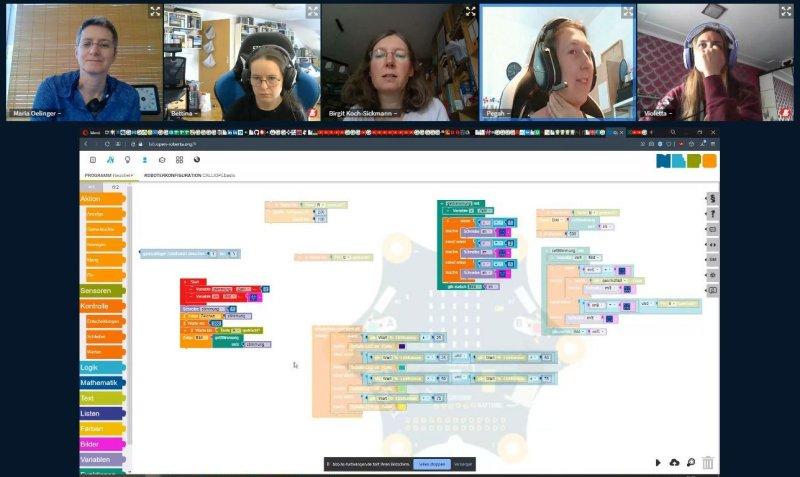 Screenshot Programmcode und Tn-Runde
